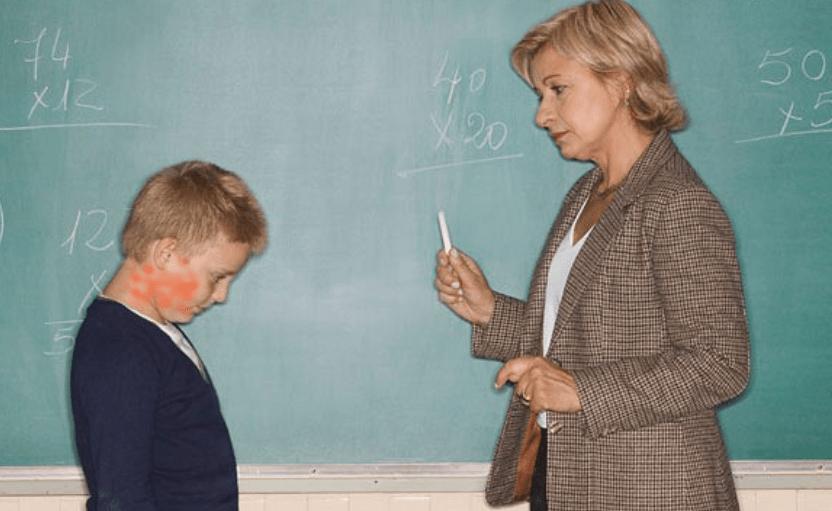 Übers knie legen schule